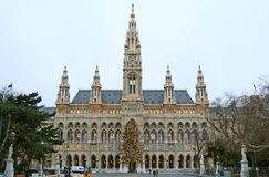 Het Nieuwe Stadhuis van Wenen Stock Foto's