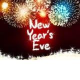 Het nieuwe van het de verjaardagsvuurwerk van de jarenvooravond rood van de de vieringspartij Stock Afbeelding