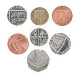 Het nieuwe vastgestelde muntstuk van Engeland royalty-vrije stock foto's