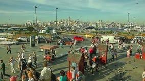 Het nieuwe vierkant van Moskeeyeni cami stock videobeelden