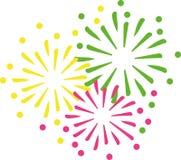 Het nieuwe vuurwerk van de jarenvooravond vector illustratie