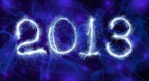 Het Nieuwjaar 2013 van de datum Royalty-vrije Stock Afbeeldingen