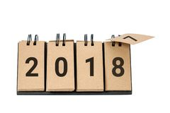Het nieuwjaar 2018 is komend concept Stock Foto