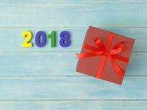 Het nieuwjaar 2018 is komend concept Stock Afbeelding