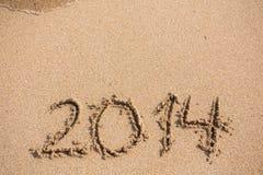 Het nieuwjaar 2014 is komend concept Royalty-vrije Stock Fotografie
