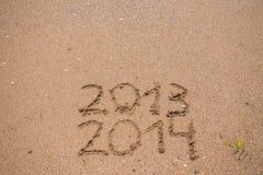 Het nieuwjaar 2014 is komend concept Royalty-vrije Stock Afbeelding