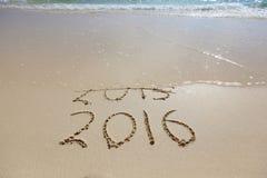 Het nieuwjaar 2016 is komend concept Stock Afbeelding