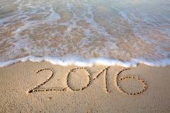 Het nieuwjaar 2016 is komend concept Stock Foto