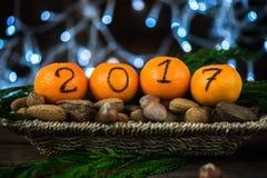 Het nieuwjaar 2017 is Komend Concept Stock Foto's