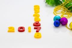 Het nieuwjaar 2017 is Komend Concept Het gelukkige Nieuwjaar 2017 vervangt 201 Stock Fotografie
