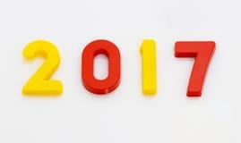 Het nieuwjaar 2017 is Komend Concept Het gelukkige Nieuwjaar 2017 vervangt 201 Stock Foto