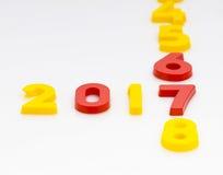 Het nieuwjaar 2017 is Komend Concept Het gelukkige Nieuwjaar 2017 vervangt 201 Stock Afbeeldingen