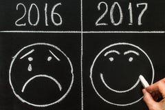 Het nieuwjaar 2017 is komend concept 2017 vervangt 2016 Royalty-vrije Stock Afbeelding