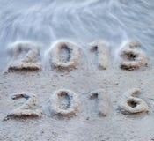 Het nieuwjaar 2016 komt Stock Afbeelding