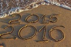 Het nieuwjaar 2016 komt Stock Afbeeldingen