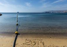 Het nieuwjaar komt aan Eilat-stad, Israël Stock Fotografie