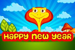 Het Nieuwjaar van de slang Royalty-vrije Stock Afbeeldingen