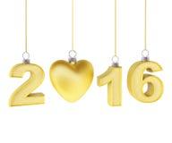 Het Nieuwjaar 2016 van Kerstmisdecoratie Stock Illustratie