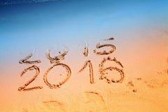 Het nieuwjaar 2016 vervangt 2015 Stock Foto's