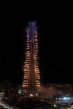 Het Nieuwjaarvuurwerk van Doubai Stock Afbeeldingen