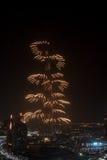 Het Nieuwjaarvuurwerk van Doubai Stock Foto's