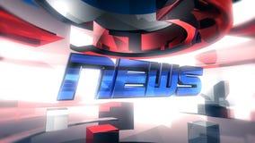 Het NIEUWS meldt Grafische Animatie stock videobeelden