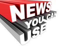 Het nieuws u kan gebruiken vector illustratie
