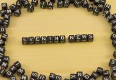 Het Nieuws van de woordavond stock foto's