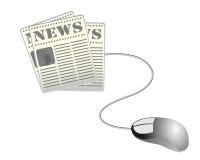Het nieuws van het Web stock illustratie