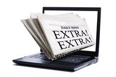 Het nieuws van Internet royalty-vrije stock fotografie