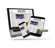 Het nieuws van Internet Royalty-vrije Stock Foto's