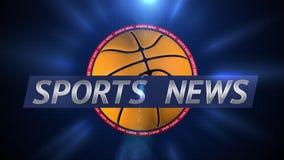 Het nieuws van sporten Uitzendings Dynamische Grafiek vector illustratie