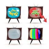 Het nieuws van TV Stock Foto's