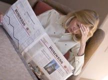 Het nieuws van Wall Street Stock Foto's
