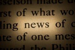 Het nieuws van Word royalty-vrije stock foto