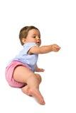 Het nieuwsgierige Meisje van de Baby Royalty-vrije Stock Foto's