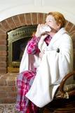 Het niezen en het Hoesten Royalty-vrije Stock Foto's