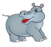 Het nijlpaard van het beeldverhaal Royalty-vrije Stock Foto