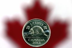 Canadees nikkel Stock Foto