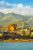 Het Nikkelmijnbouw van Nieuw-Caledonië Stock Foto's