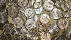 Het Nikkelmuntstukken van Verenigde Staten royalty-vrije stock foto