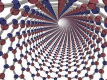 Het Nitride Nanotube van het borium Stock Afbeeldingen