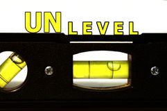 Het Niveau van Unlevel Stock Fotografie