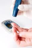 Het niveaubloedonderzoek van de glucose Royalty-vrije Stock Foto's