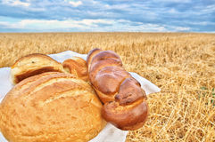 Het nog-leven met brood Royalty-vrije Stock Afbeeldingen
