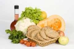 Het nog-leven met groenten. Stock Afbeelding