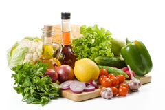 Het nog-leven met groenten. Stock Afbeeldingen