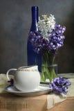 Het nog-leven met hyacinten Stock Fotografie