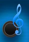 Het noodlot van de spreker met muzieknota vector illustratie