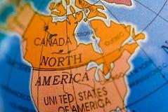 Het noorden Amerika en Canada Royalty-vrije Stock Foto